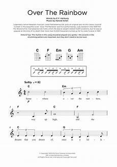 ukulele sheet music the rainbow from the wizard of oz by israel quot iz quot kamakawiwo ole ukulele guitar