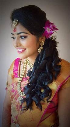 Indian Bridal Hairstyles For Reception