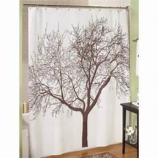 Brown Tree Shower Curtain new brown bare branch tree fabric shower curtain ebay