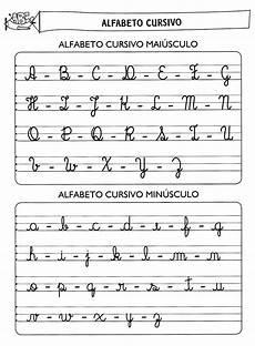 cantinho da alfabeto cursivo