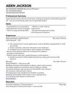 selfemployed marketforce mystery shopper resume sle