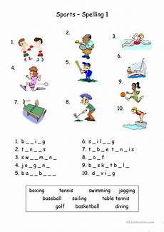 sports worksheets free 15797 sports spelling worksheet free esl printable worksheets made by teachers