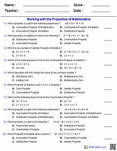 geometry properties of equality worksheets 697 addition multiplication communicative associative properties worksheets mathematics