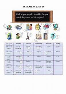 school subjects and timetable esl worksheet by reb77