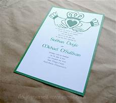 diy irish wedding invitations make your own and save
