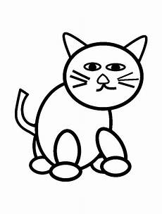 cat for simple drawing cats coloring pages
