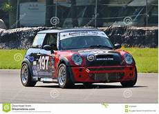mini cooper s racing car editorial photography image of