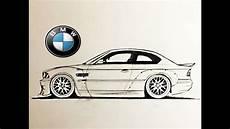 Como Dibujar Un Bmw M3 E46 How To Draw A Car