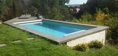 piscine sur terrain en pente piscine hors sol en bois choisir sa piscine bois hors