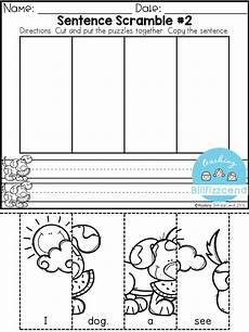 building sentences worksheets free 21032 free sentence building for beginning readers writers kindergarten writing kindergarten