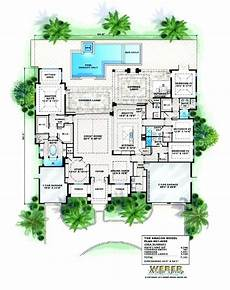 house plans with pools in the middle garage swimming pool mediterranean house plans with