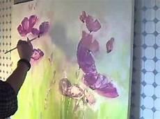 Acryl Malvorlagen Blumen Acrylmalerei Abstraktes Blumenbild Sabine Belz