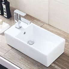 design rectangle counter top basin sink unit ceramic suit bathroom cloakroom ebay