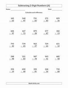 subtraction worksheet 3 digit minus 3 digit subtraction a math pinterest all 3 digit minus 2 digit subtraction a