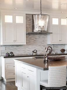 White Tile Backsplash Kitchen Modern White Gray Subway Marble Backsplash Tile