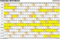 kalender 2016 berlin ferien feiertage excel vorlagen