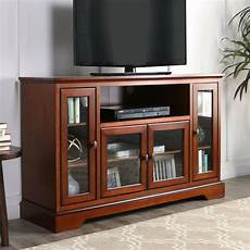 walker furniture 52 quot tv console rustic brown highboy wood tv stand w52c32rb new ebay