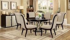 ornette dining espresso silver finish usa warehouse furniture
