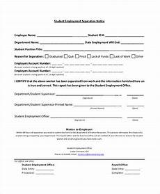 14 separation notice templates docs ms word apple pages pdf free premium templates