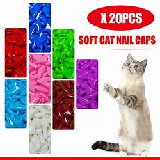 100 Pcs Cat Claw Covers 20pcs Soft Cat Nail Caps Pet Paw Claws Nail Grooming