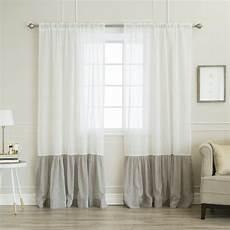 home fashion gardinen best home fashion 84 in l white linen look rod pocket