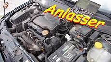 anlasser wechsel am opel astra g x16szr motor 1 6l