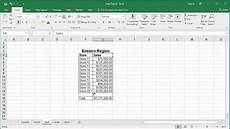 how to add identical cells from multiple worksheets in excel 2016 youtube