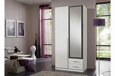 armoire de chambre blanche armoire 2 portes et 2 tiroirs 90 cm avec miroir cbc meubles