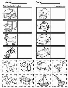 rhyming worksheets 18447 matching rhyming words kindergarten worksheets preschool worksheets rhyming words