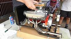 perfectly built 1 4 scale free style 250cc chevy v8 engine