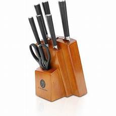 Forged Kitchen Knife Set by Ginsu Gourmet Chikara Series Forged 8 Japanese Steel