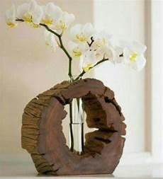 deko selber machen holz scheibe aus holz reagenzglas weihnachtsdeko vase