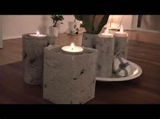 diy mit strukturpaste beton imitieren windlichter vasen