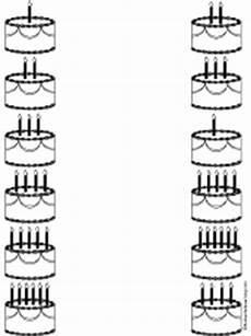 birthday cake printable worksheets 20255 math matching worksheets at enchantedlearning
