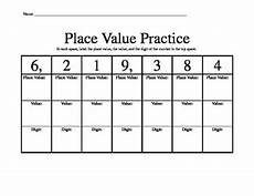 place value quiz worksheet 5644 place value practice chart worksheet by charlton in charge tpt