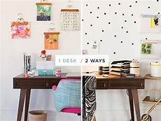 your 2014 home decor makeover reving your office space one desk two ways oh