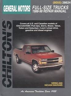 free car manuals to download 1997 gmc yukon spare parts catalogs 1988 1998 chevrolet gmc full size trucks chilton total car care manual