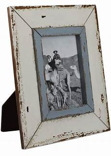 Bilderrahmen Holz Weiß - bilderrahmen wei 223 blau shabby vintage fotorahmen holz 25x30