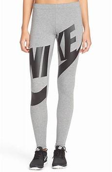 nike leg a see exploded logo in gray lyst