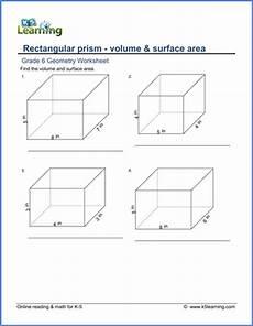 grade 6 worksheets volume surface area of rectangular prisms k5 learning