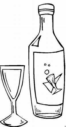 Gratis Malvorlagen Glas Sektflasche Und Glas Ausmalbild Malvorlage Nordisch