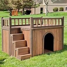 staircase dog house balcony roof boomer george medium large small dogs backyard ebay