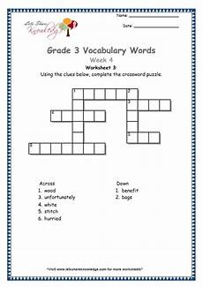 grade 3 vocabulary worksheets week 4 lets share knowledge
