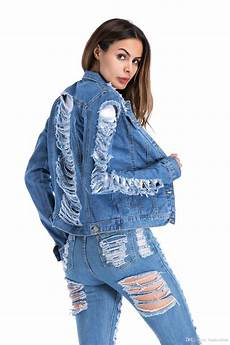 fashion clothing autumn denim jacket