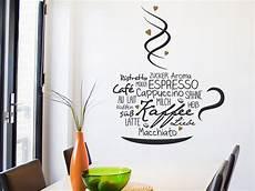wandtattoo kaffeeliebe mit kreativer kaffeetasse