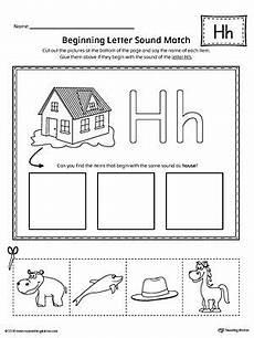 letter h beginning sound picture match worksheet letter formation letter worksheets for