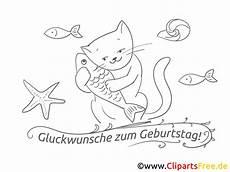 Ausmalbilder Geburtstag Katze Fisch Katze Ausmalbild Geburtstag Bilder Kostenlos