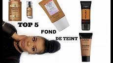 top 5 fond de teint peau noires meilleurs fond de teint