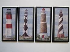 lighthouses wall decor set 4pc nautical coastal spa bath