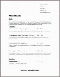 resume templates uk cv template simple resume template resume format exles resume layout